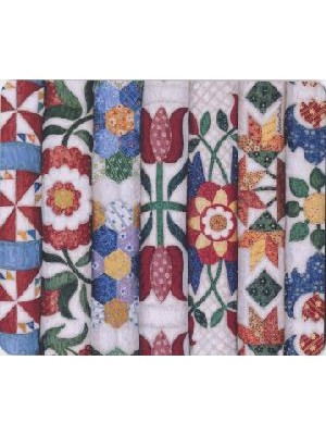MOUSE MAT - STACKED FLOWERS - BY REBECCA BARKER